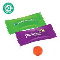 Logózható cukorka környezetbarát csomagolásban