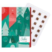 Logózható adventi naptár csokival