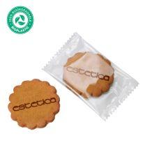 Logózható keksz környezetbarát csomagolásban