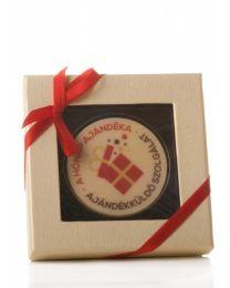 Logózható csokitallér díszdobozban - 25g