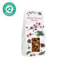Karácsonyi fahéjas mandula logózható, környezetbarát csomagolásban