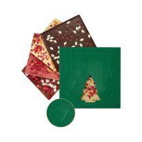 Karácsonyi csokoládé logózható csomagolásban