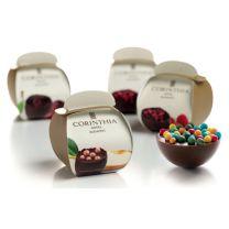 Logózható dobozos csokifélgömb
