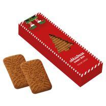Karácsonyi fűszeres keksz logózható dobozban