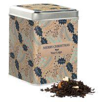 Logózható tea karácsonyi dobozban