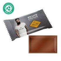 Környezetbarát csomagolású reklámcsokoládé