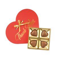 4 darabos csokiszív logózható dobozban