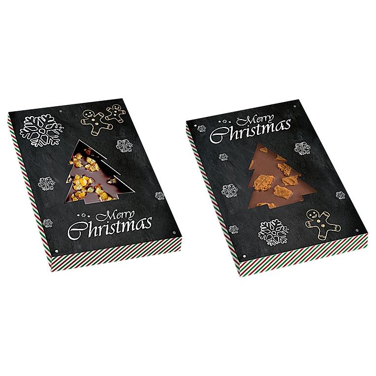 egyedi karácsonfay formájú csoki