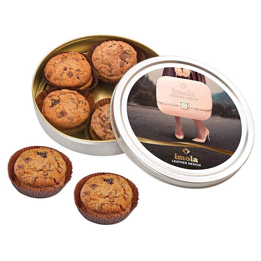csokoládés keksz emblémázható dobozban